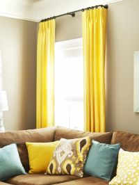 Top 25+ best Yellow Curtains ideas on Pinterest | Yellow ...