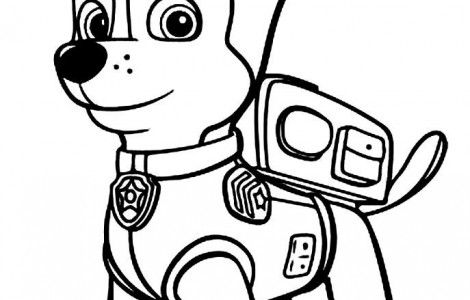 Chase Paw Patrol Coloring Pages Silhouette Portrait