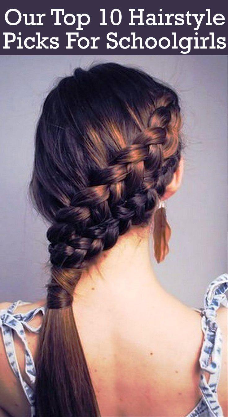 25 Best Ideas About Girls School Hairstyles On Pinterest School