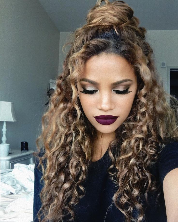 25 Best Ideas About Dyed Curly Hair On Pinterest Long Curly