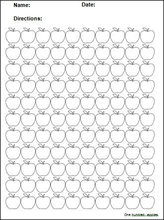 Apple template, Math worksheets and Templates on Pinterest