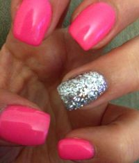 1000+ ideas about Hot Pink Nails on Pinterest | Pink Nails ...