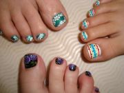 cute toenail design summer