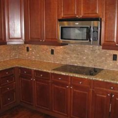 Best Floors For Kitchens Kitchen Glass Backsplash 17 Images About Cherry Cabinets On Pinterest | Giallo ...