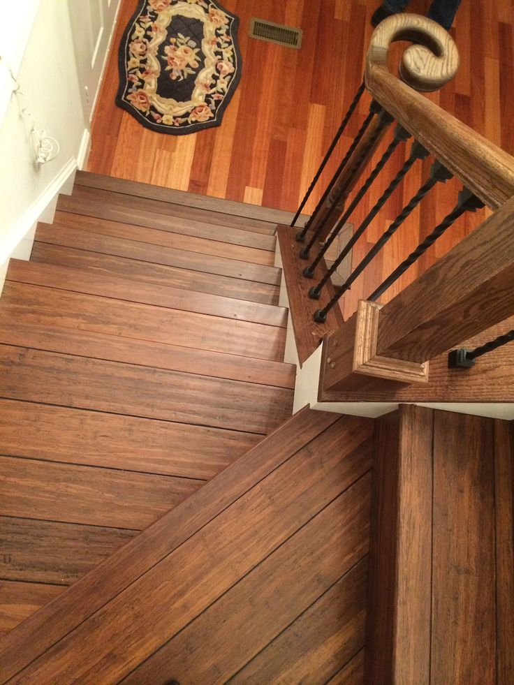 Floor your stairs with Antique Java Fossilized bamboo