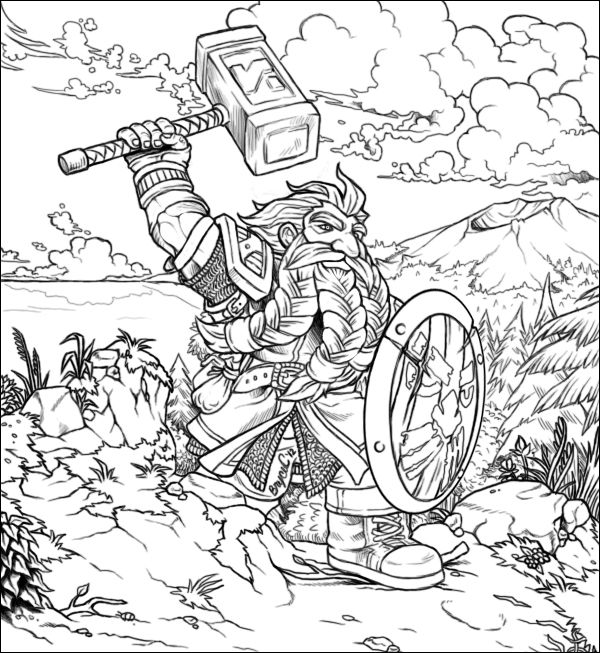 37 best images about world of warcraft coloring pages on