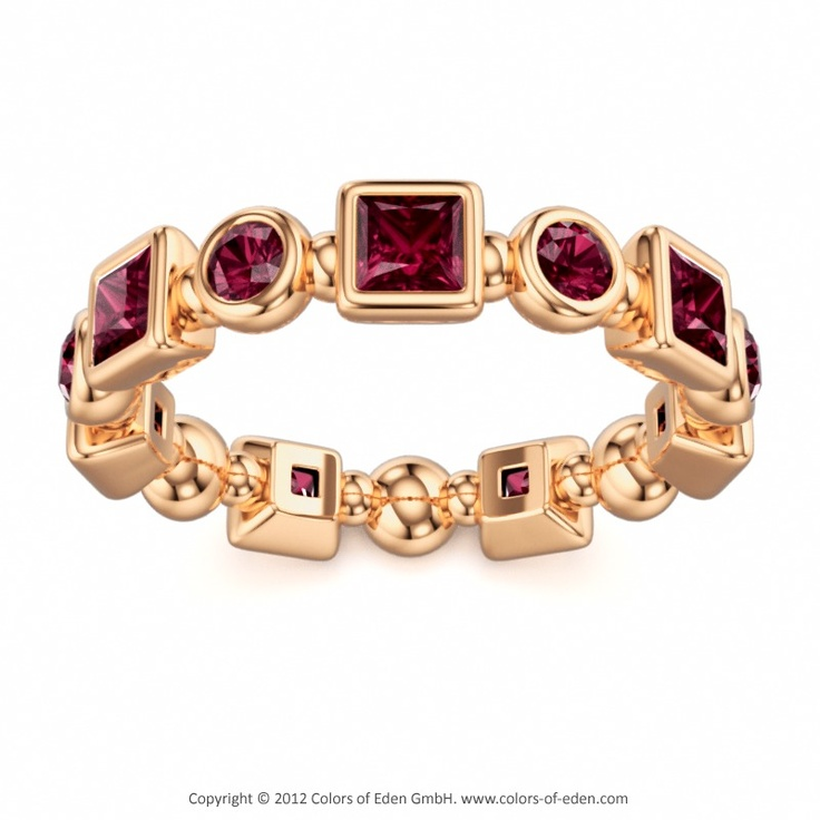 Rhodolite Garnet Ring Aureola At Colors Of Eden Rosegold