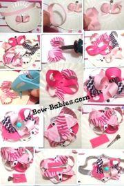 layered ribbon hair bow instructions