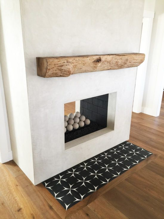 Image Result For Spanish Style Large White Stucco Fireplace Rustic Rough Hewn Mantel Grey Stucco Fireplace With Cement