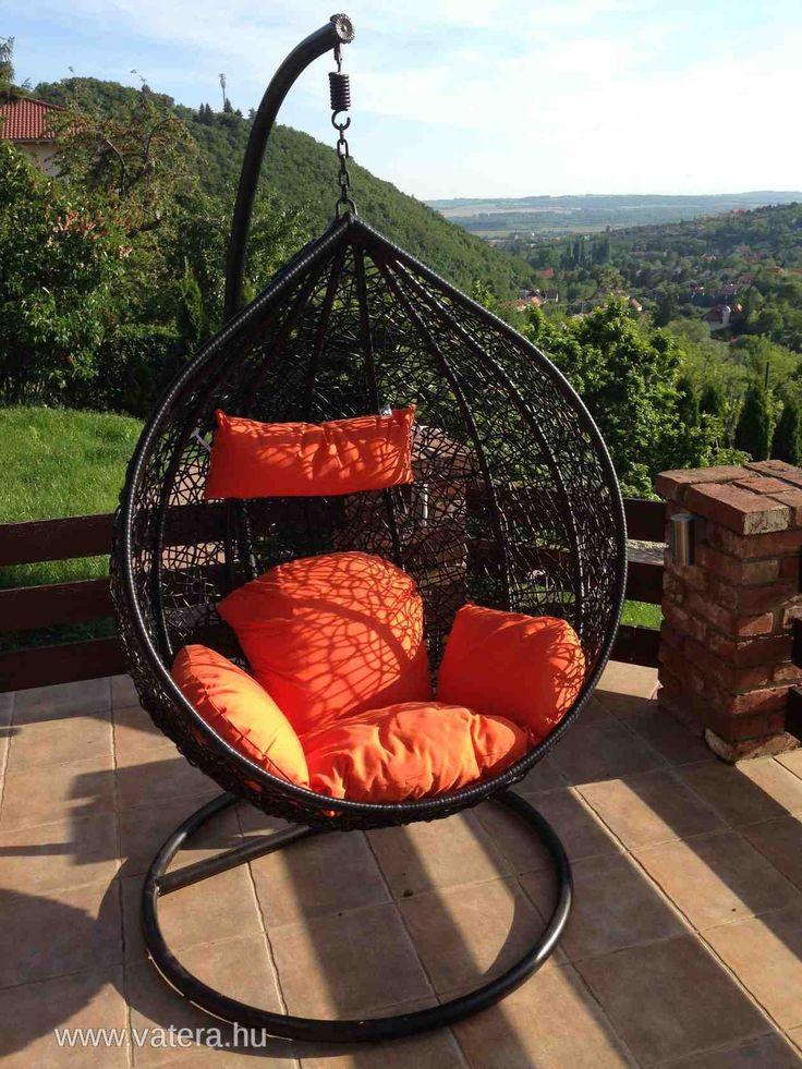 hanging egg chair jysk child pedicure casa rattan függőfotel - függő fotel szék 79900 ft | hinta pinterest and furniture ...