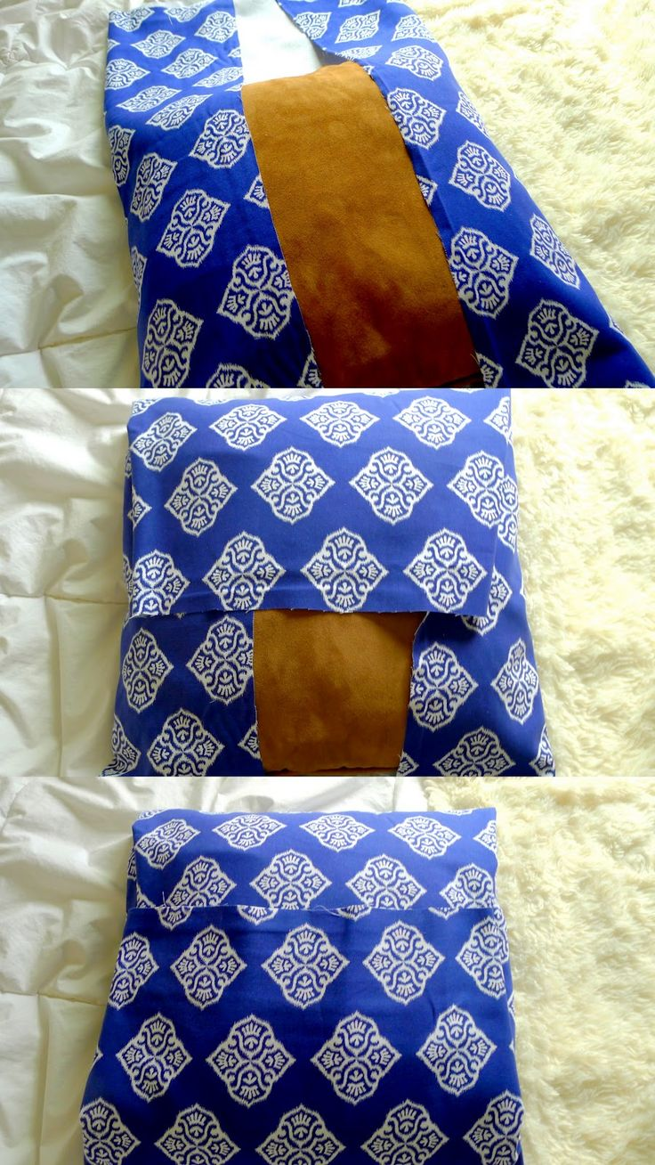 DIY: No- Sew Pillow (10 minute project that costs less than a drink at Starbucks)