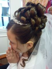 communion hair #updo #kidshairstyling