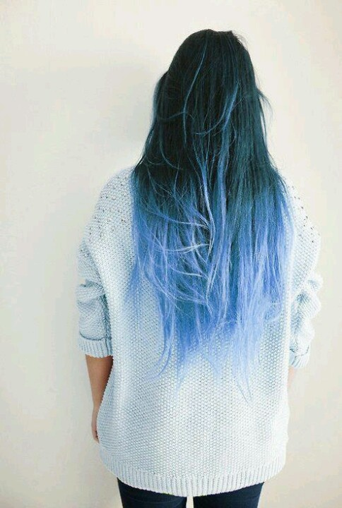 25 Best Ideas About Blue Dip Dye On Pinterest Dip Dyed Hair
