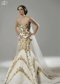 White and gold wedding gown | Wedding dress | Pinterest ...