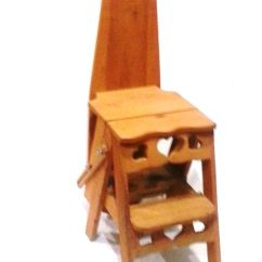 Vintage Kitchen Step Stool Chair Silver Cabinets Ironing Board Plans - Woodworking ...