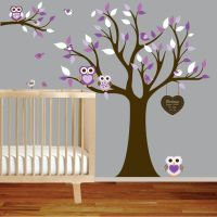 Owl Themed Nursery | Vinyl Wall Decal Stickers Owl Tree ...