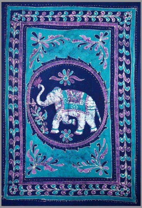 Good Luck White Elephant Batik Tapestry Twin Amp Full