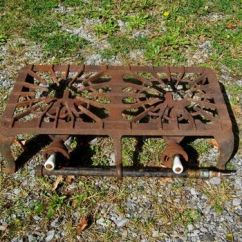 Retro Kitchen Tables Large Trash Can Antique Griswold #32 Cast Iron Two Burner Table Top Gas ...