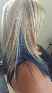 ideas blue hair highlights