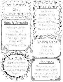 25+ best ideas about Preschool newsletter templates on