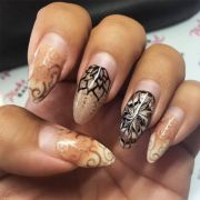 ideas fall nail design