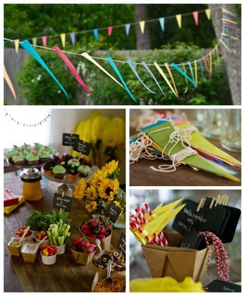 DIY Party Ideas For Kids Tuinen Krijtbord Tekens En Feestideeën