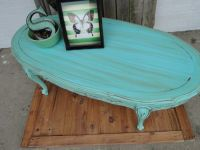 Vintage Wooden Oval Coffee Table with Cuvy Legs in ...
