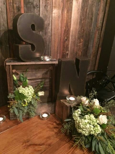 Rustic Engagement Party Table Decor Diy Pinterest