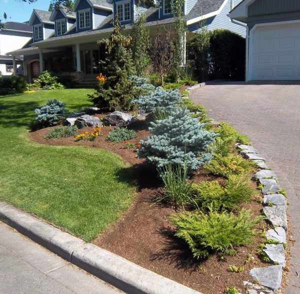 landscaping ideas with rocks corner