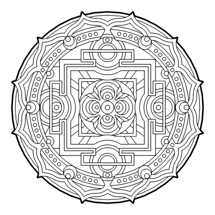 454 best images about Advanced Coloring Pages-Mandalas on