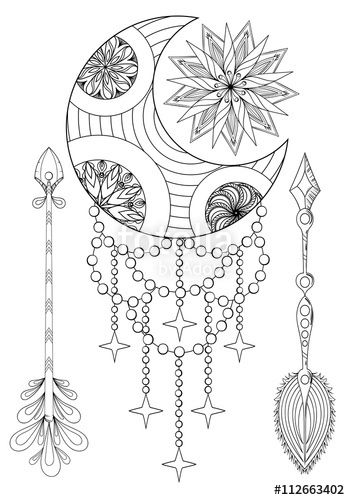 129 best images about DreamCatcher Coloring Pages for