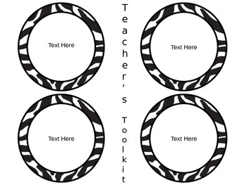 17 Best images about Zebra Theme Classroom on Pinterest