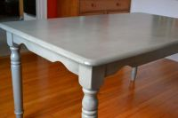 """Refinishing our """"plain jane"""" dining table 