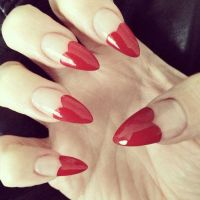 25+ best ideas about Heart nails on Pinterest | Heart nail ...