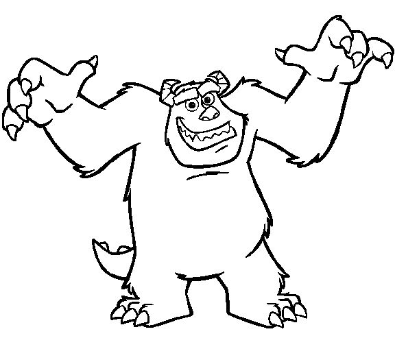 31 best images about Monsters, Inc Coloring Pages on