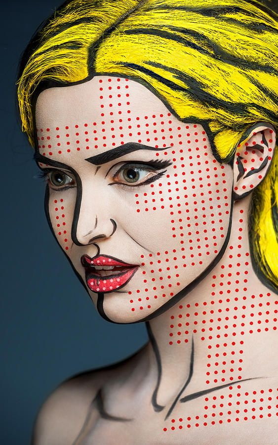 Pop Art Make-up for Halloween