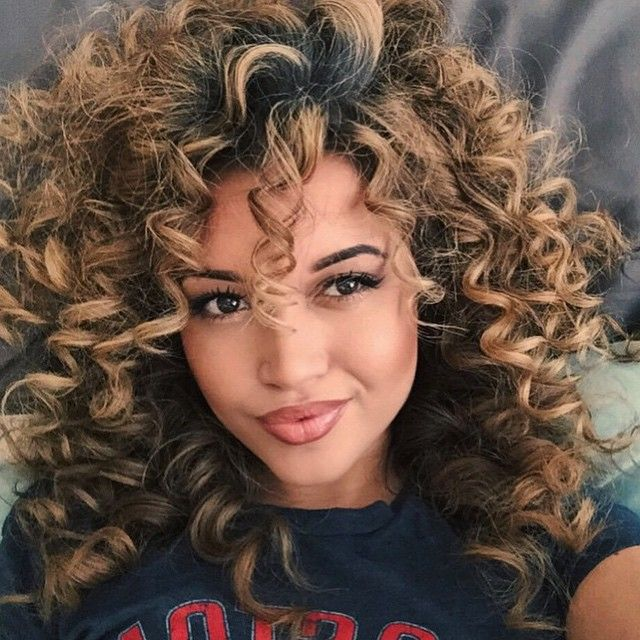 25 Best Ideas About Big Curly Hairstyles On Pinterest Messy