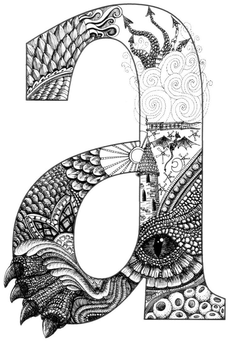 1000+ images about Zentangle® Letters and Words on