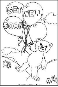 Teddy Bear with Get Well Soon Message | kids | Pinterest ...