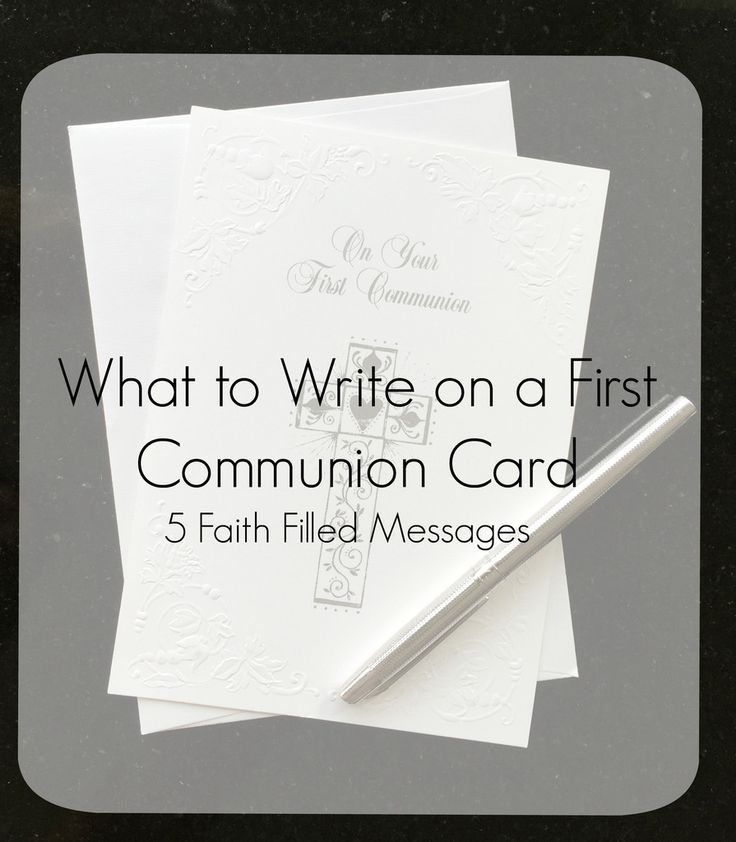 What to Write on a First Communion Card  Blog Communion