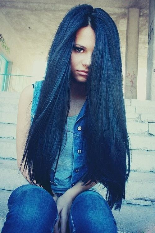 35 Best Images About Dark Blue Hair On Pinterest Her Hair