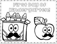 25+ best ideas about Kindergarten coloring pages on