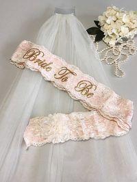 Bachelorette Sash and Veil Set - Lace Bride To Be Sash ...