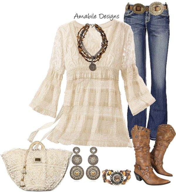 """""""Spring Country Girl"""" by amabiledesigns on Polyvore"""