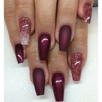 Best 25+ Maroon nails ideas on Pinterest