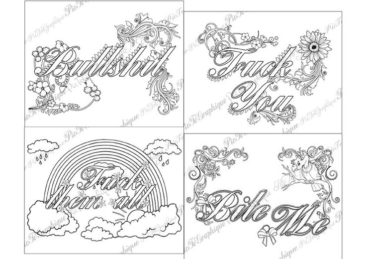 Kinky Adult Coloring Pages Words Coloring Pages