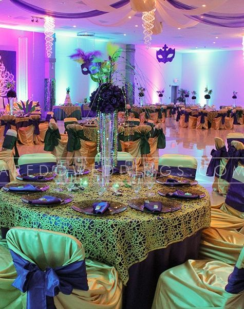 mardi gras wedding reception ideas  1920s WEDDING THEMED RECEPTION TABLESCAPES  Mirage
