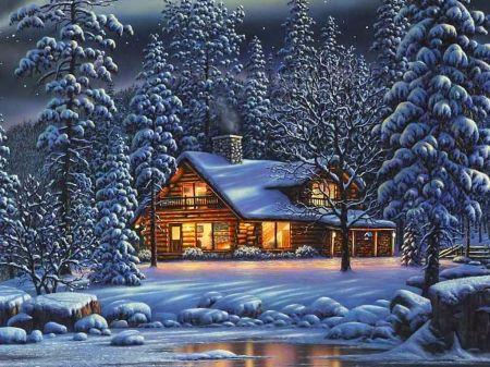 Winter House Desktop Nexus Wallpapers Desktop