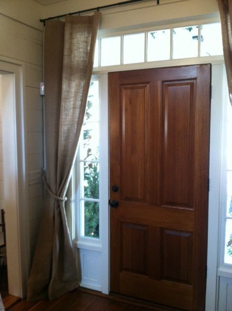 25 Best Ideas About Front Door Curtains On Pinterest Sidelight