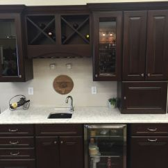 Monarch Kitchen Island Motion Faucet Northern Classic Cabinetry Wildwood Maple Russet Door Lg ...
